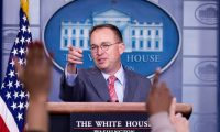 Washington (United States), 17/10/2019.- Acting White House Chief of Staff Mick Mulvaney holds a news conference in the James Brady Press Briefing Room of the White House, in Washington, DC, USA, 17 October 2019. Mulvaney announced that US President Donald J. Trump will host the 46th G7 Summit at his Doral resort in Florida in 2020. (Estados Unidos) EFE/EPA/MICHAEL REYNOLDS