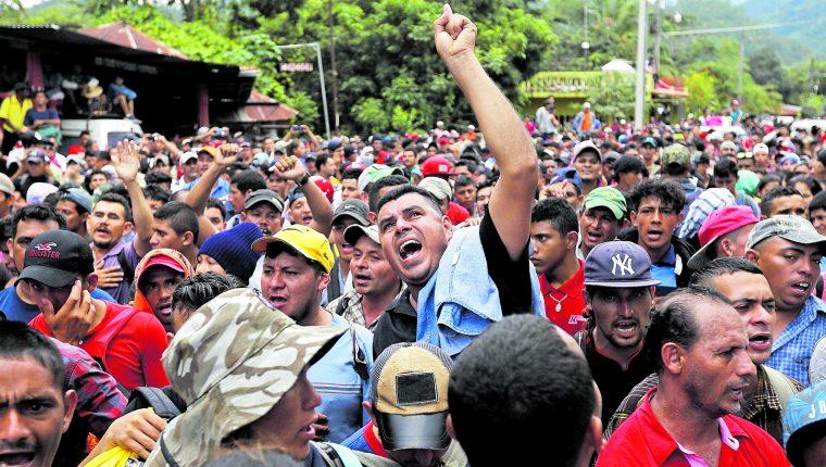 Miles de hondureños intentan cada año llegar a EE. UU. (Foto Prensa Libre: Hemeroteca PL)