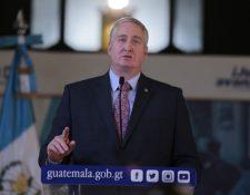 Enrique Degenhart, ministro de Gobernación. (Foto Prensa Libre: Mingob)