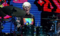 New York (United States).- (FILE) - Drummer Ginger Baker performs during a reunion of Cream, at Madison Square Garden in New York, USA, 25 October 2005 (reissued 26 September 2019). Legendary drummer Ginger Baker died on 06 October 2019 at the age of 80, his family announced. The jazz and blues drummer who co-founded the rock band Cream, had been reported critically ill in hospital, his family announced 26 September 2019. (Estados Unidos, Nueva York) EFE/EPA/STEVE POPE *** Local Caption *** 55496494