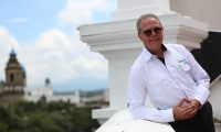 Entrevista con Jorge Alonso gerente de EEGSA que ser‡ removido en los pr—ximos d'as.  foto por Carlos Hern‡ndez  04/10/2019