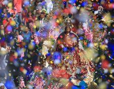 La imagen de la Virgen del Rosario del Templo de Santo Domingo fue declarada en 1651, como la Patrona de la Ciudad de Santiago de Guatemala y abogada contra los terremotos. Foto Prensa Libre/ Carlos Hernández