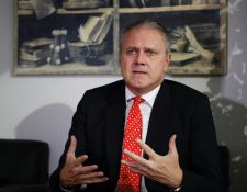 Embajador de la Unión Europea Stefano Gatto,  (Foto Prensa Libre. Noe Medina)