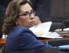 Sandra Torres durante una audiencia judicial. (Foto Prensa Libre: Hemeroteca).