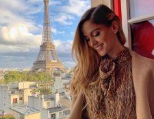 Natalia Barulich en su viaje a París. Foto tomada del Instagram