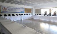 El Congreso ordenó retirar el mobiliario y equipo asignadas a las comisiones de postulación. Sala luce vacía. (Foto Prensa Libre: Óscar Rivas).