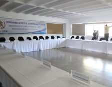 El Congreso ordenó retirar el mobiliario y equipo asignadas a las comisiones de postulación. Sala lucía vacía el 17 de octubre de 2019. (Foto Prensa Libre: Óscar Rivas).