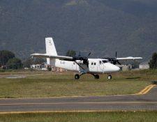 Todos los días hay tráfico aéreo en el aeródromo de Huehuetenango. (Foto Prensa Libre:  Mike Castillo)