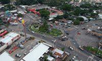 Autoridades de Escuintla aseguran que se necesitan tres pasos a desnivel para atender la carga vehicular que con la privatización de la autopista Puerto Quetzal se incrementará. (Foto Prensa Libre: Carlos Paredes