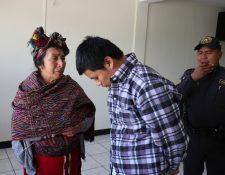 Chel Ceto intentó  argumentar que sufre problemas mentales para tener una menor condena, pero no tuvo éxito. (Foto Prensa Libre: Héctor Cordero)