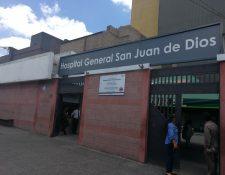 Ingreso al hospital San Juan de Dios. (Foto Prensa Libre: Hemeroteca PL)