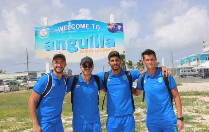 La Selección Nacional llega a Anguila para el partido del próximo sábado. (Foto Prensa Libre: Fedefut)