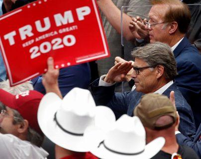 Donald Trump aprovecha cada espacio para promoverse. (Foto Prensa Libre: EFE)