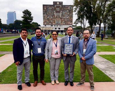 El premio fue entregado el 24 de octubre, en la ciudad universitaria de la UNAM.