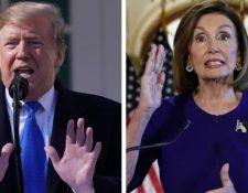 Las disputas entre Donald Trump y Nancy Pelosi se hacen cada vez más evidentes. (Foto Prensa Libre)