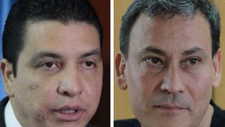 Erick Archila, exministro de Energía y Minas, y Allan Marroquín, exinterventor de Portuaria Quetzal. (Foto Prensa Libre: Hemeroteca PL)
