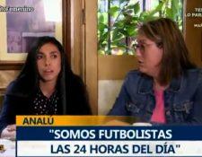 Ana Lucía Martínez durante una entrevista para El Chiringuito. (Foto Prensa Libre: Twitter)