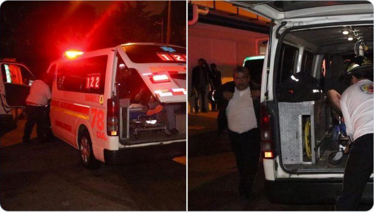 Los cuerpos de socorro debieron atender varios hechos de violencia. (Foto Prensa Libre: Bomberos Voluntarios)