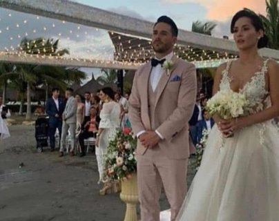 Carmen Villalobos y Sebastián Caicedo se casaron en Cartagena Colombia. (Foto Prensa Libre: Instagram)