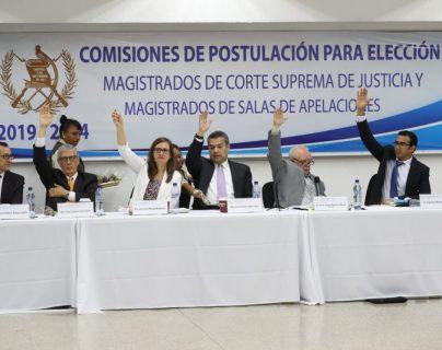 Comisionados de postuladora para CSJ se aglutinan en grupos de poder