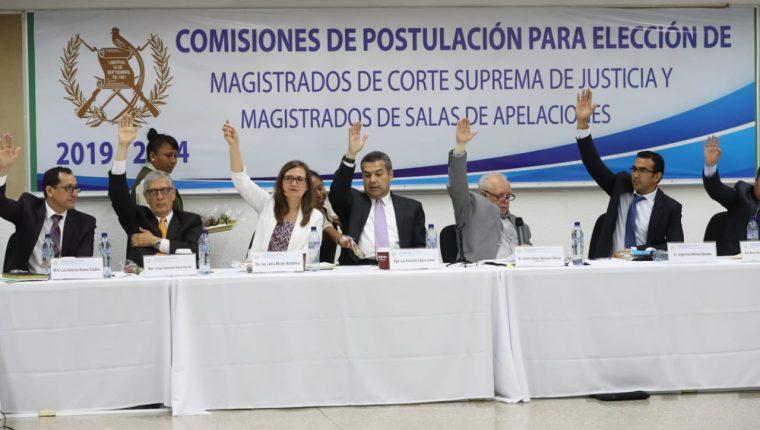 La Comisión de Postulación para la elección de magistrados de Corte Suprema de Justicia empezó de nuevo el proceso de elección de magistrados. (Foto Prensa Libre: Érick Ávila)