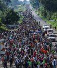 El paso de enormes caravanas, el año pasado, encendió las alarmas de EE. UU. que comenzó a firmar acuerdos de seguridad con los países de Centroamérica. (Foto Prensa Libre: Hemeroteca PL)