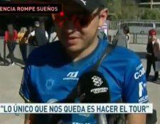 Javier Muss, aficionado de Cobán Imperial, en España. (Foto Prensa Libre: Twitter)