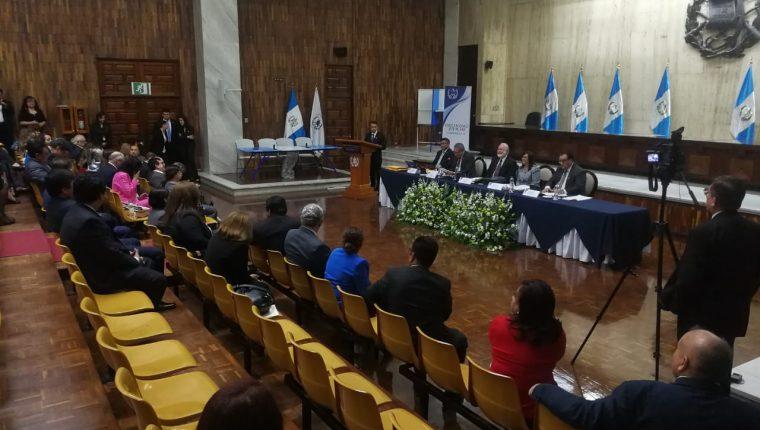 Magistrados participan de la elección de representantes para la Postuladora de CSJ. (Foto Prensa Libre: Hemeroteca PL)