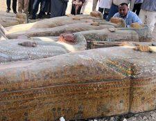 Las decoraciones de los sarcófagos aún son visibles. (MINISTERIO DE ANTIGUEDADES DE EGIPTO)