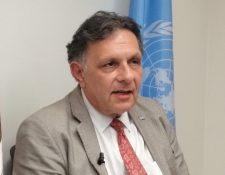 Fabrizio Feliciani durante una visita a Guatemala habla sobre los retos como Estado para transparentar los procesos de compras. (Foto Prensa Libre: ONU México)
