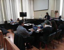 Una de las audiencias de la jueza Érica Aifán en donde se discutió el caso Fénix, del cual se perdió un documento. (Foto Prensa Libre: Hemeroteca PL)