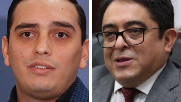 Juan Manuel Giordano, diputado de FCN-Nación, y Jordán Rodas, procurador de los Derechos Humanos. (Foto Prensa Libre: Hemeroteca PL)