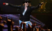 """(FILES) In this file photo taken on December 29, 2011, singer Axl Rose of Guns N' Roses performs at The Joint inside the Hard Rock Hotel & Casino in Las Vegas, Nevada. - The band Guns N' Roses is suing a Colorado brewery for naming one of its beers """"Guns 'N' Rose,"""" saying the alleged trademark infringement has caused the hard rockers """"irreparable damage."""" The offending craft beer -- whose moniker is stylized with an accent on the e, referencing the type of wine -- is made by Oskar Blues Brewery, part of the Canarchy Craft Brewing Collective in the western US state. In its complaint filed Thursday, May 9, 2019 in Los Angeles federal court, the band, which is seeking undisclosed damages and legal costs, accused the brewery of selling products that """"intentionally trade on the GNR's goodwill, prestige, and fame without GNR's approval, license, or consent."""" (Photo by Ethan Miller / GETTY IMAGES NORTH AMERICA / AFP)"""