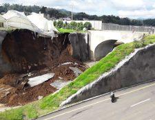 Los constantes derrumbes del Libramiento de Chimaltenango crearon fuertes críticas durante el anterior Gobierno. (Foto Prensa Libre: Hemeroteca PL)