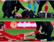 Luka Modric y Gareth Bale no terminaron bien el partido de eliminatorias de la Eurocopa 2020.  (Foto Prensa Libre: Twitter @realmadridnote)