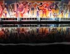 """En el edificio del Instituto Guatemalteco de Seguridad Social (IGSS), se llevó acabo la restauración del mural """"La Seguridad Social"""", de Carlos Mérida.  (Foto Prensa Libre: Fernando Cabrera)."""