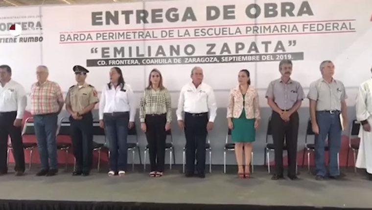 Los asistentes de la actividad se percataron del grave error. (Foto Prensa Libre: Unimedios)