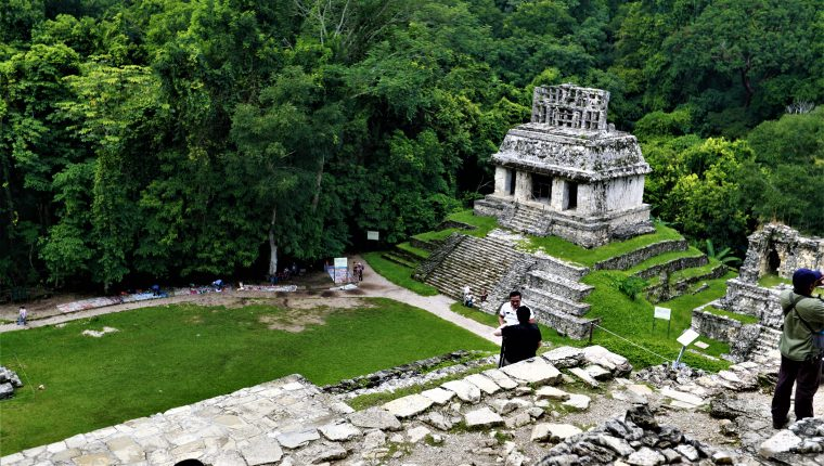"""El sitio arqueológico de Palenque, en Chiapas, México, es parte del proyecto """"Explorando el mundo de los mayas"""" , de Google y el Museo Británico. (Foto Prensa Libre, Pablo Juárez Andrino)"""