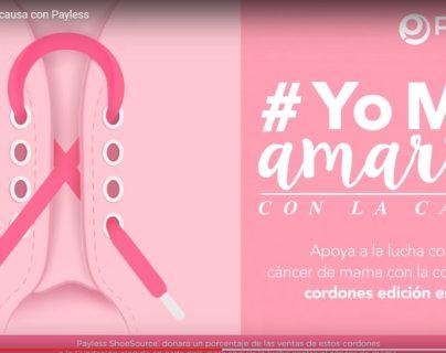 La campaña #YoMeAmarroConLaCausa Payless recauda fondos para la lucha contra el cáncer. Foto Prensa Libre: Cortesía