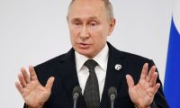 Osaka (Japan), 29/06/2019.- Russian President Vladimir Putin speaks to the media after the G20 leaders summit in Osaka, Japan, 29 June 2019. It is the first time Japan hosts a G20 summit. The summit gathers leaders from 19 countries and the European Union to discuss topics such as global economy, trade and investment, innovation and employment. (Lanzamiento de disco, Japón, Rusia) EFE/EPA/ALEXANDER ZEMLIANICHENKO / POOL