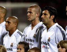Ronaldo Nazario, Roberto Carlos, David Beckham, Luis Figo y Zinedine Zidane formaron parte del Real Madrid de 'los galácticos'. (Foto Prensa Libre: Redes)