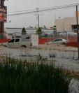 Un sector de la ruta Interamericana en San Lucas quedó anegado. Foto tomada de Meteorología GT/Facebook