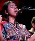 """La cantautora guatemalteca promociona el álbum """"Somos"""". (Foto Prensa Libre: Keneth Cruz)"""