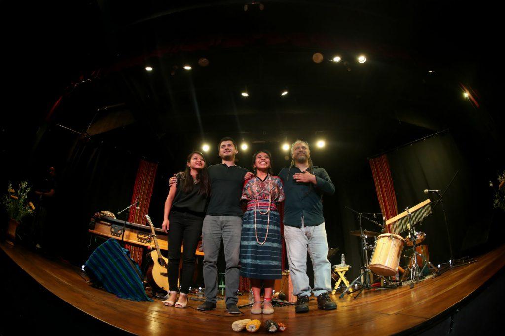 Hilda López, Sergio Zepeda, Sara Curruchich y Chejo Enríquez, brindaron dos veladas llenas de historia cultural y calidad sonora. (Foto Prensa Libre: Keneth Cruz)
