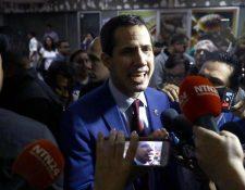 Se vivieron momentos de nerviosismo en la sede del partido opositor Voluntad Popular en Caracas. EPA