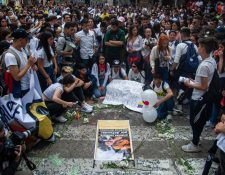 Los estudiantes del Colegio Ricaurte han hecho vigilias y protestas por Dilan.