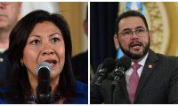 Norma Torres y Jimmy Morales. (Fotos Prensa Libre: Hemeroteca).
