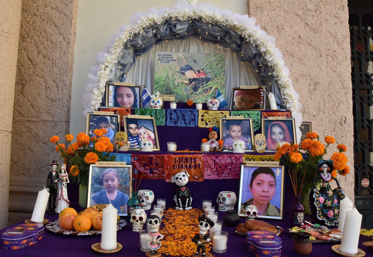 Honran con altar a niños guatemaltecos que han muerto por las políticas migratorias de Trump