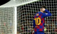 GRAF3450. BARCELONA, 05/11/2019.- El delantero argentino del Barcelona, Lionel Messi, durante el partido ante el Slavia de Praga, de la fase de grupos de la Liga de Campeones que se disputa este martes en el Camp Nou. EFE/ Enric Fontcuberta.