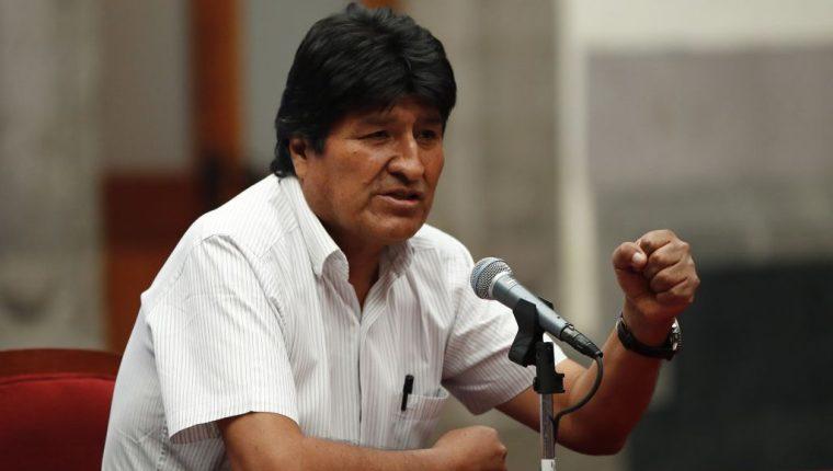 El expresidente de Bolivia, Evo Morales, ofrece una conferencia de prensa en México el 13 de noviembre de 2019. (Foto Prensa Libre: EFE).